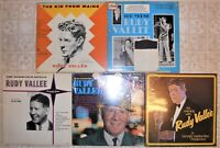 Rudy Vallée, 5 Vinyl Record Lot, 4 LP & 1 DLP, All US 1st Press, 1 Mint, Sealed