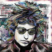 Bob Dylan Art Print, Dylan Canvas, Folk Music Artwork, Classic Rock, 60s