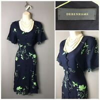 Debenhams Navy Floral Dress UK 12 EUR 40