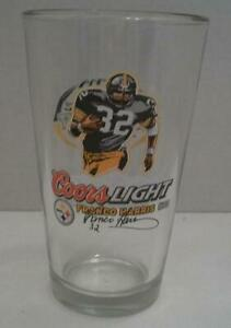 FRANCO HARRIS Pittsburgh Steelers COORS LIGHT Beer Glass