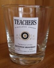 TEACHERS SCOTCH WHISKY TUMBLER GLASS HEIGHT 3¼ INCHES (8 CM)