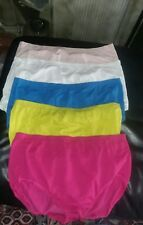 Fruit of the Loom 5 Pair multicolor high style seamless nylon Panties size 9