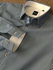 GORGEOUS HUGO BOSS BOLD BENGAL STRIPE REGULAR FIT LONG SLEEVE SHIRT M MEDIUM