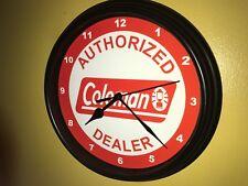 Coleman Camping Lantern Cooler Store AuthDealer Man Cave Wall Clock Sign