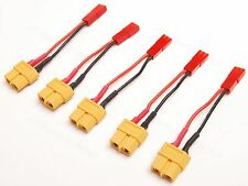 Lot(5) JST to AMASS Female XT60 XT-60 Adapter 20AWG 10cm Wire for RC Power
