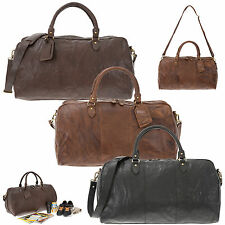 Reisetasche JUSTIFIED Ledertasche Duffle Bag COOPER Leder Tasche Weekender NEU