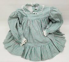 cddb854e36b Vintage Girl s Bryan Red Green White Plaid Ruffle 12 Mth Baby Christmas  Dress