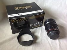 Rokinon 24mm T1.5 Wide Angle Lens for Canon EOS