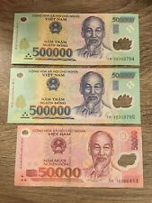 Fast Ship! 1,500,000 3 x 500,000 Lightly Circ. 1.5 Million VietNam Dong