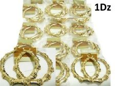 3' Wide Wholesale Lot 12 1 Dz Earrings Gold Hip Hop Bamboo Statement Hoop Circle