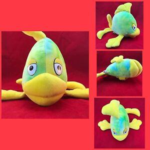 """Large 15"""" Fiesta Plush Pink Yellow Blu KISSY Fish with BIG LIPS Stuffed Flounder"""