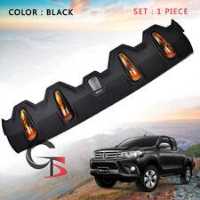Front Roof Spoiler Black Orange Led FITT Trim For Toyota Hilux Revo 2015 - 2017