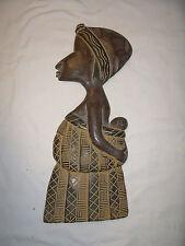 Skulptur Mutter mit Kind aus Ghana Afrika Handarbeit