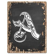 PP0472 Alphabet Initial Name Letter A Chic Sign Bar Shop Store Home Room Decor