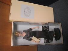 Franklin Mint Princess Diana Vinyl 16 Inch Doll In Black Dress NEW COA