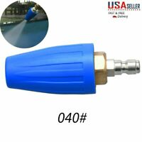 1//4/'/' 7mm Quick Connect Washer Clean Spray Rotating Turbo Nozzle Tip 3000 PSI