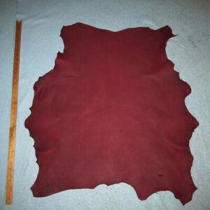 Thin 2 oz Black Cherry Sheepskin Leather Hide Bookbinding Bible