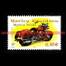 HARLEY DAVIDSON FL 1200 Hydra Glide 2002 - FRANCE Moto Timbre Poste Stamp
