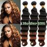 Deep Wave 20 22 24 Peruvian Virgin Human Hair Weave Weft 3Bundles Natural Black