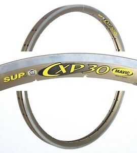 "NOS PAIR MAVIC CXP30 CXP 30 TUBULAR RIMS 28"" 700C 28H HOLES VINTAGE 90S ROAD OLD"