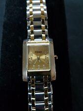 Women's Fendi silver/gold tone watch model #108-70001-889. New battery