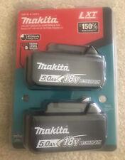 Original Makita 18V LXT® Lithium‑Ion 5.0Ah Battery, Set of 2