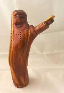 Moses with Tablets. Taos, New Mexico Santo. Hand Carved Red Cedar Wood Statue