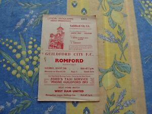 Guildford v Romford Southern Lge 1962/3