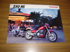 New listing 1992 Kawasaki 250 Hs, Nos Sales Brochure 2 Pages.Text in English & French.