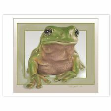 © ART - GreenTree Frog Wildlife Nature Original artist print by Di