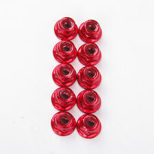 10 X Alloy Anti-Loose Wheel Rim Lock M4 4MM Nuts For EP Nitro1/10 RC Car Red