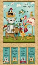 """Henry Glass No Fowl Play by Leanne Anderson 8712P 44 Tan 24"""" Panel  FREE US SHIP"""
