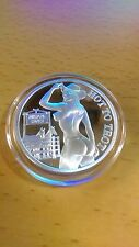 nude woman cowgirl coin -  One Troy Ounce .999 Fine Silver - hard to find