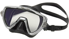 Tusa LIMITED EDITION Visio Pro Dive Mask in Chrome - Crystal View Optical Glass