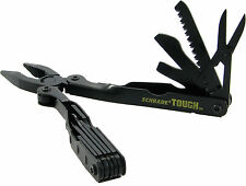 Schrade Tough Tool Black 12-in-1 Pocket Multi Tool w/ Nylon Sheath ST1NB