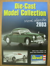 REVELL DIECAST MODEL COLLECTION 2003 CATALOGUE / BROCHURE