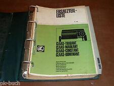 Teilekatalog Claas Mähdrescher Trabant / Markant / Constant / Dominant, St. 1970