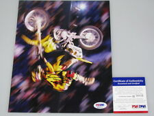 TRAVIS PASTRANA Hand Signed 8'x10' Photo + PSA DNA M56015  Nitro Circus