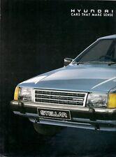 Hyundai Stellar 1988-89 UK Market Foldout Sales Brochure 1.6 L SL GSL
