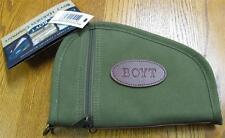 """NEW Boyt Harness OD Green 10"""" Pistol Revolver Gun Rug Case w/ Pockets PP41 Heart"""