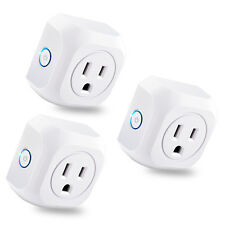 Kootion Fireproof 3 Pack Us Smart WiFi Plug Remote Control Timer Switch Socket