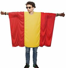 Unisex Spain Flag Poncho OneSize Spanish Fancy Dress Supporter Costumes