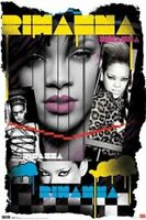 RIHANNA ~ 80's STYLE COLLAGE ~ 22x34 Music Poster ~ NEW/ROLLED!  Pop