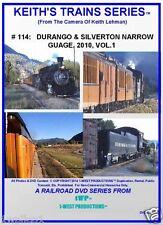 Keith's Trains Series RR DVD # 114 DURANGO & SILVERTON NARROW GAUGE 2010 VOL. 1