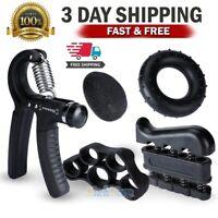5 PACK Hand Grip Strengthener Strength Gripper Finger Exerciser Forearm Trainer