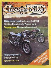 CLASSIC BIKE - March 1987 - 250cc Ducati Mk3D - Matchless G50CSR