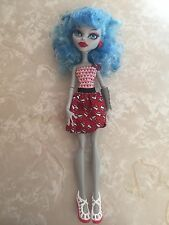 """Monster High 11"""" Doll DOT DEAD GORGEOUS GHOULIA YELPS Drop Red"""