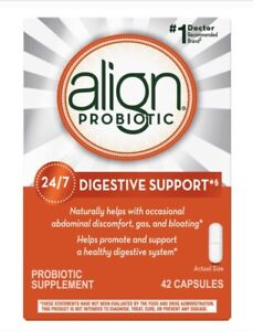 Align Probiotic Digestive Supplement 42 Capsules, EXP 08/2023 Brand-New-In-Box