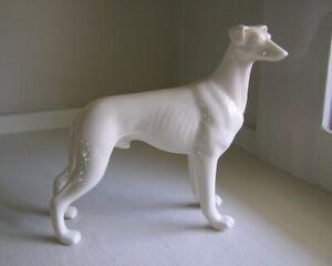 Italian Greyhound Porcelain Dog Figurine Cream White