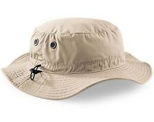 Mans Mens Sun Shade Summer Wide Brim Bucket Cargo Floppy Hat Stone Beige UPF50+